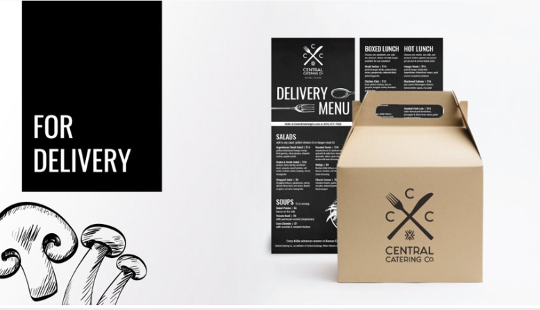central catering co delivery box